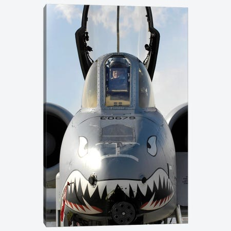 A Pilot Prepares To Dismount His A-10C Thunderbolt II Canvas Print #TRK582} by Stocktrek Images Canvas Art