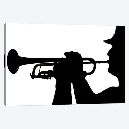 A Servicemember Plays A Tune During A Homecoming Ceremony Canvas Print #TRK589} by Stocktrek Images Canvas Artwork