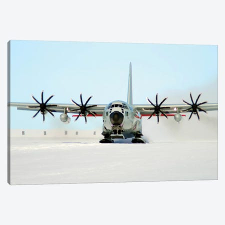 A Ski-Equipped LC-130 Hercules Canvas Print #TRK595} by Stocktrek Images Canvas Artwork