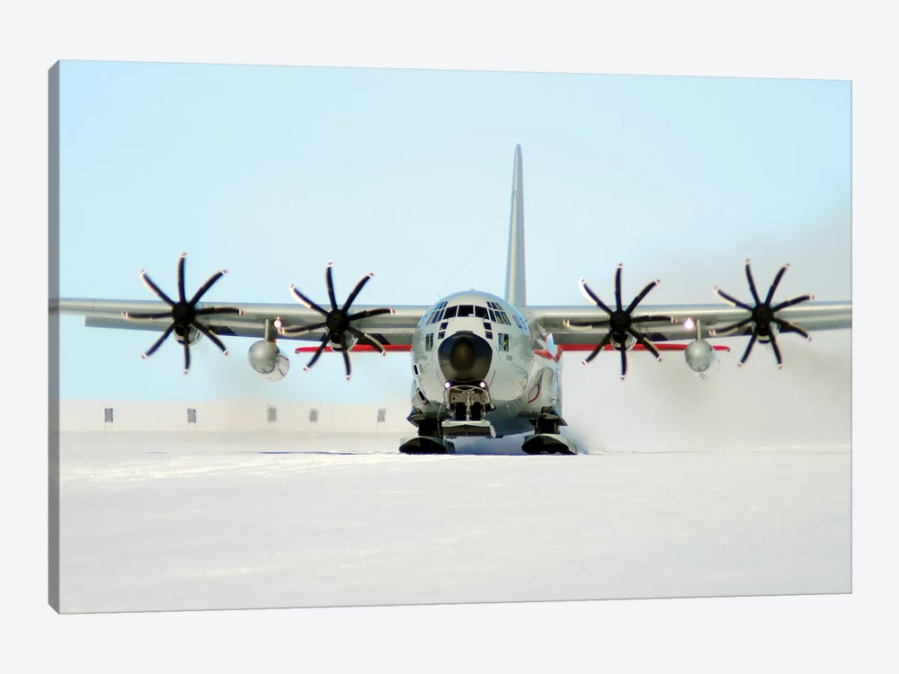 A Ski-Equipped LC-130 Hercules by Stocktrek Images 1-piece Canvas Art Print