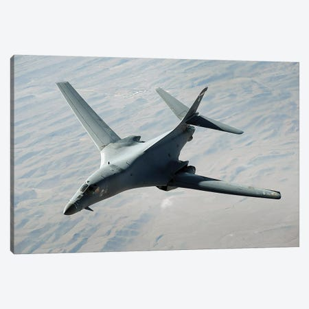 A US Air Force B-1B Lancer On A Combat Patrol Over Afghanistan Canvas Print #TRK615} by Stocktrek Images Canvas Art Print