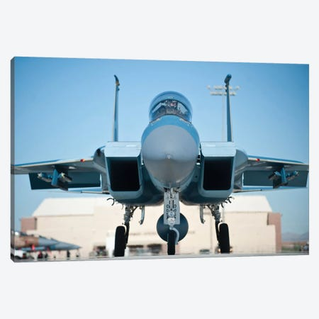 A US Air Force F-15D Eagle Taxis To The Runway Canvas Print #TRK619} by Stocktrek Images Canvas Artwork
