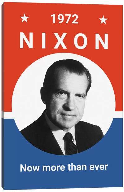 Vintage Print Of President Richard Nixon Canvas Art Print