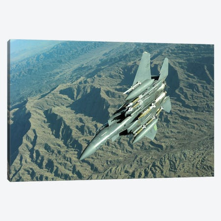 A US Air Force F-15E Strike Eagle On A Combat Patrol Over Afghanistan Canvas Print #TRK621} by Stocktrek Images Canvas Print