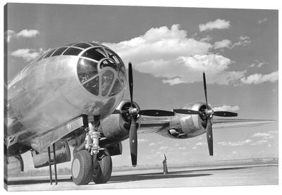 A US Army Air Forces B-29 Superfortress Bomber Aircraft Canvas Art Print