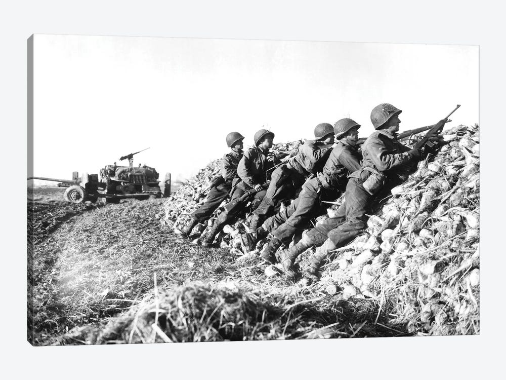 A US Infantry Anti-Tank Crew Fires On Nazis Somewhere In Holland by Stocktrek Images 1-piece Canvas Print