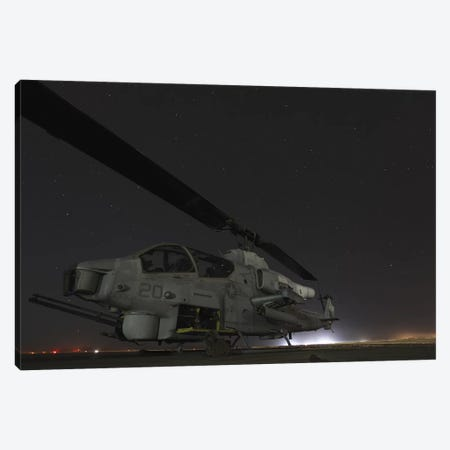 A US Marine Corps Ah-1W Cobra Attack Helicopter Canvas Print #TRK634} by Stocktrek Images Art Print