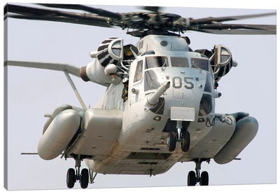 A US Marine Corps CH-53E Super Stallion Canvas Art Print