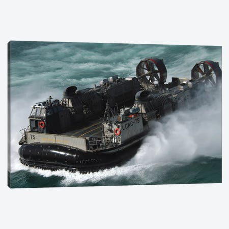 A US Navy Landing Craft Air Cushion Heading To The Kuwait Naval Base Canvas Print #TRK639} by Stocktrek Images Canvas Art