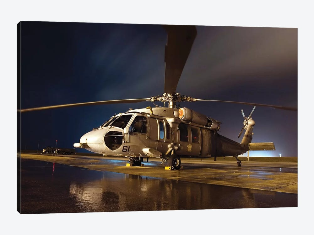 A US Navy MH-60S Seahawk Helicopter by Stocktrek Images 1-piece Canvas Art Print