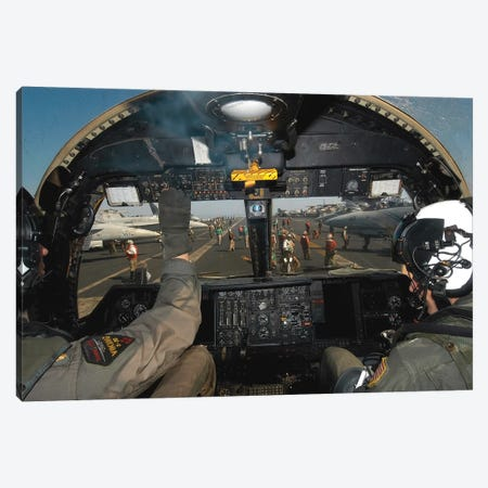A View From The Tactical Coordinator's Position Aboard A US Navy S-3B Viking Aircraft Canvas Print #TRK646} by Stocktrek Images Canvas Art