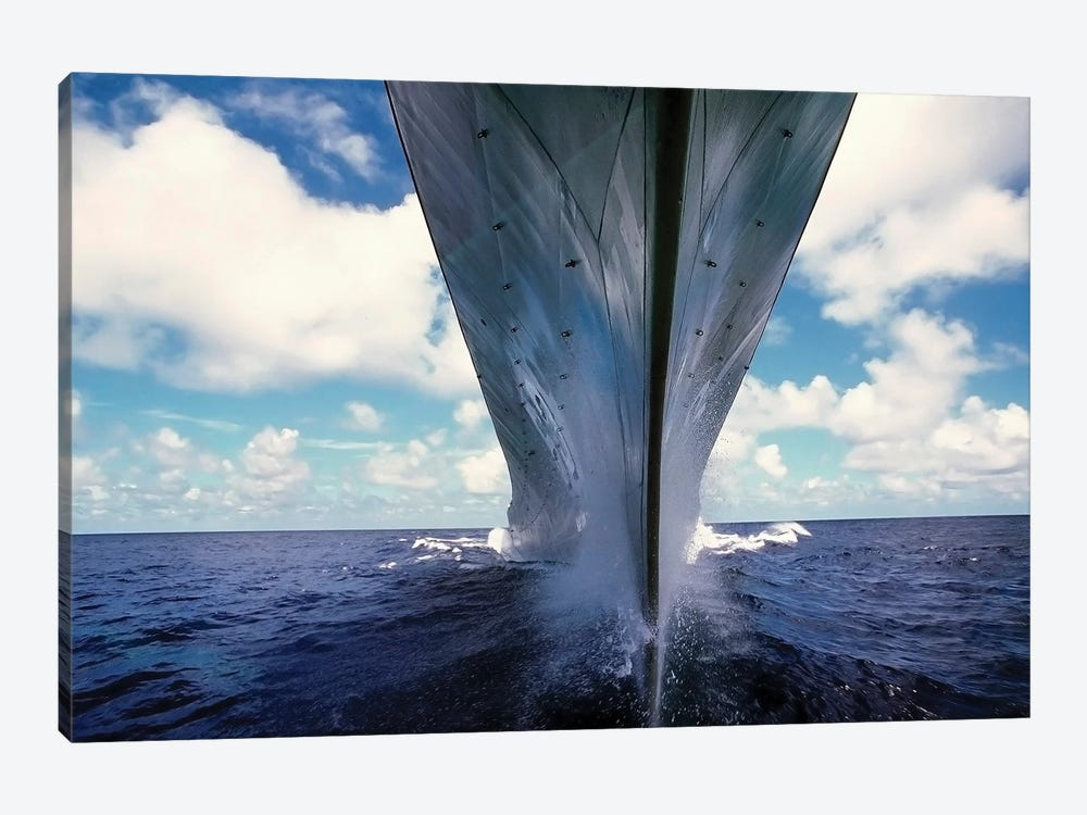 A Water-Level Bow View Of The Battleship USS Missouri by Stocktrek Images 1-piece Canvas Art Print