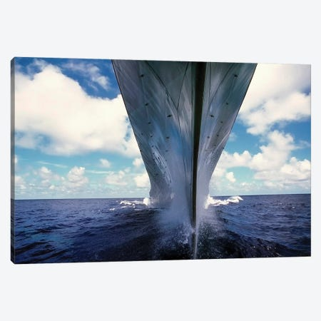 A Water-Level Bow View Of The Battleship USS Missouri Canvas Print #TRK648} by Stocktrek Images Canvas Print