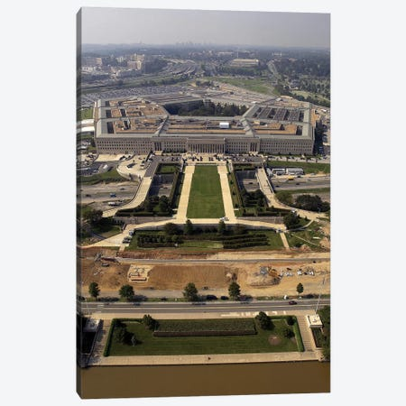 Aerial Photograph Of The Pentagon With The River Parade Field In Arlington, Virginia Canvas Print #TRK651} by Stocktrek Images Canvas Art