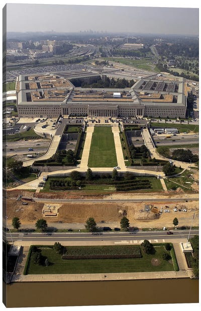 Aerial Photograph Of The Pentagon With The River Parade Field In Arlington, Virginia Canvas Art Print