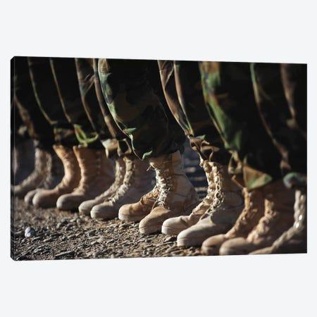 Afghan National Army Air Corps Soldiers Training In Kandahar, Afghanistan Canvas Print #TRK653} by Stocktrek Images Canvas Wall Art