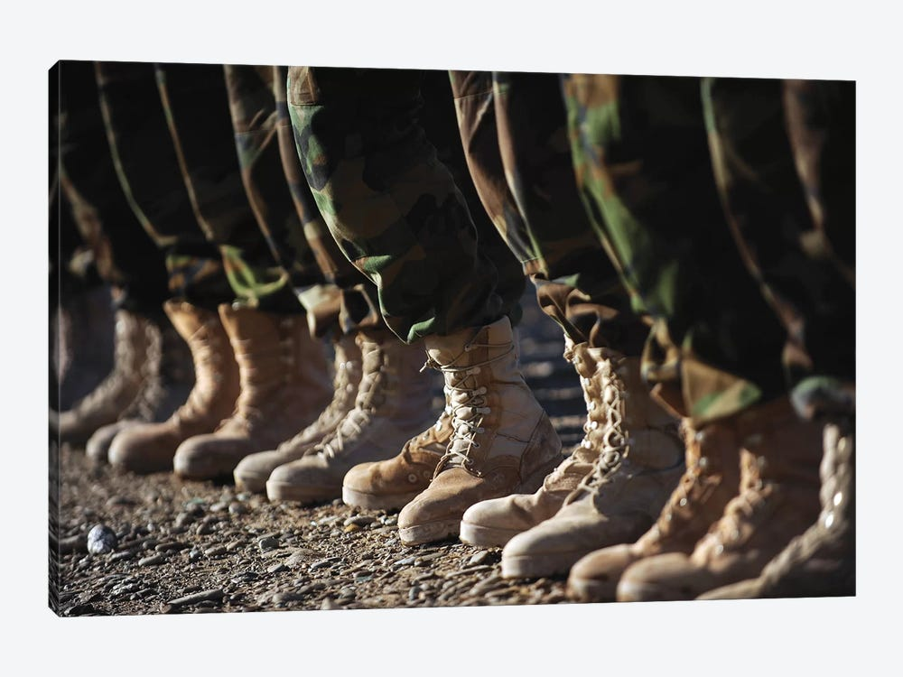 Afghan National Army Air Corps Soldiers Training In Kandahar, Afghanistan 1-piece Canvas Art Print
