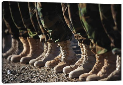 Afghan National Army Air Corps Soldiers Training In Kandahar, Afghanistan Canvas Art Print
