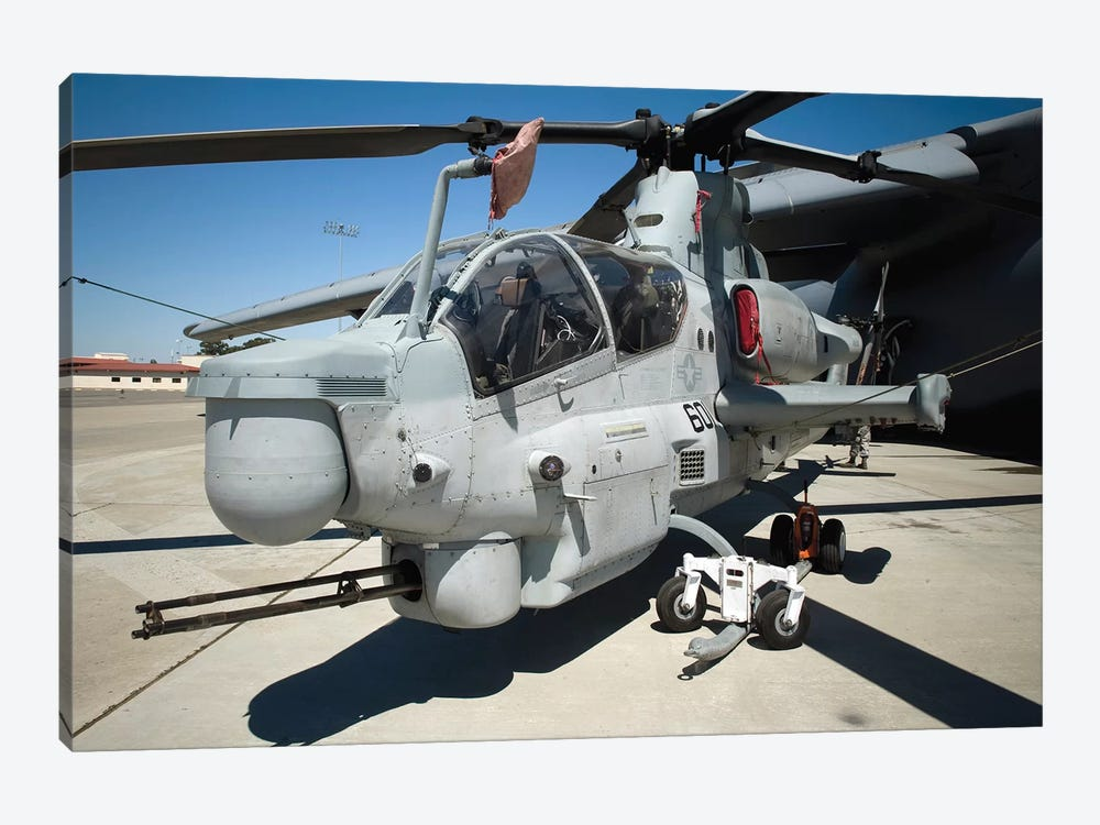 AH-1Z Super Cobra Attack Helicopter by Stocktrek Images 1-piece Canvas Wall Art