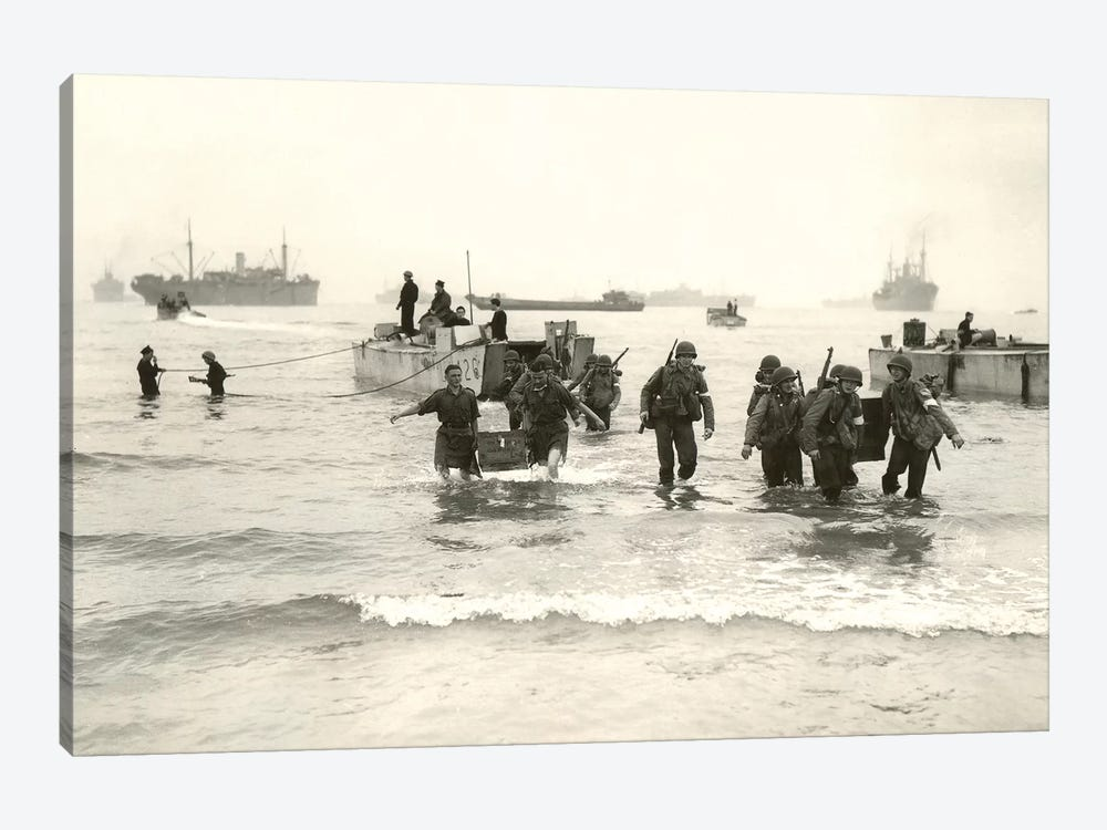 American Forces Landing At Arzew, Algeria During Operation Torch by Stocktrek Images 1-piece Canvas Print