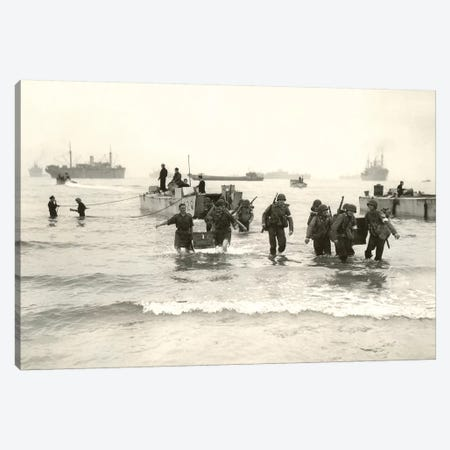 American Forces Landing At Arzew, Algeria During Operation Torch Canvas Print #TRK671} by Stocktrek Images Canvas Artwork