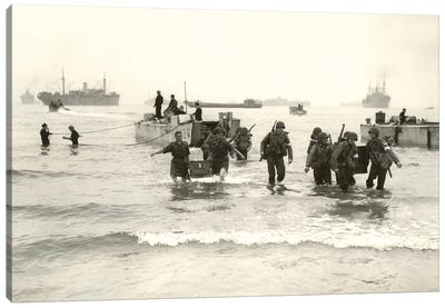 American Forces Landing At Arzew, Algeria During Operation Torch Canvas Art Print