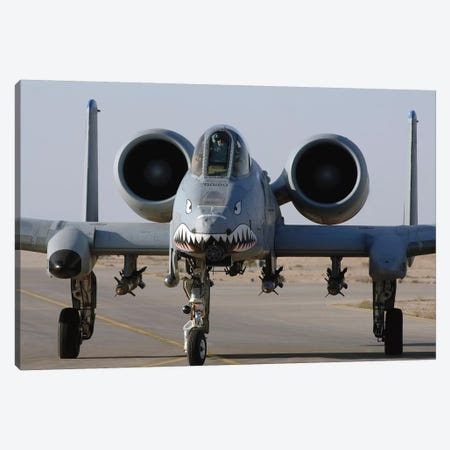 An A-10 Thunderbolt II Canvas Print #TRK673} by Stocktrek Images Canvas Wall Art