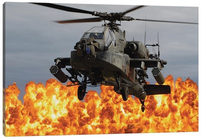 An Ah-64D Apache Longbow During A Combined Arms Demonstration Canvas Art Print