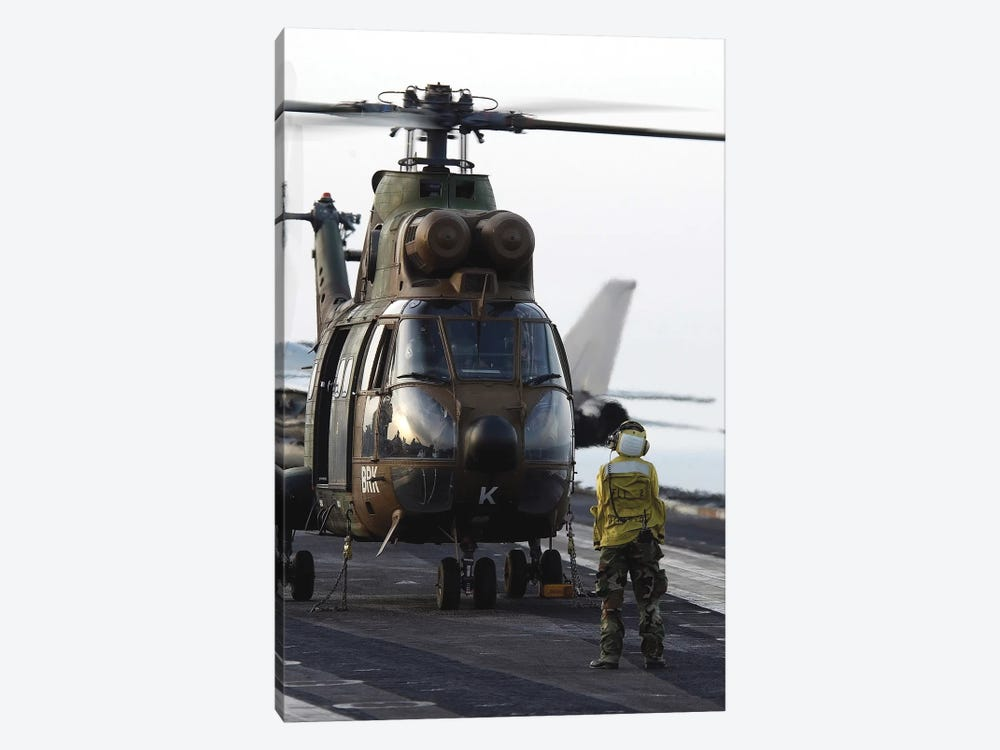 An AS-565 Panther Helicopter by Stocktrek Images 1-piece Canvas Print
