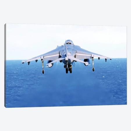 An AV-8B Harrier Jet Launches Off The Flight Deck Of USS Peleliu Canvas Print #TRK689} by Stocktrek Images Canvas Art Print