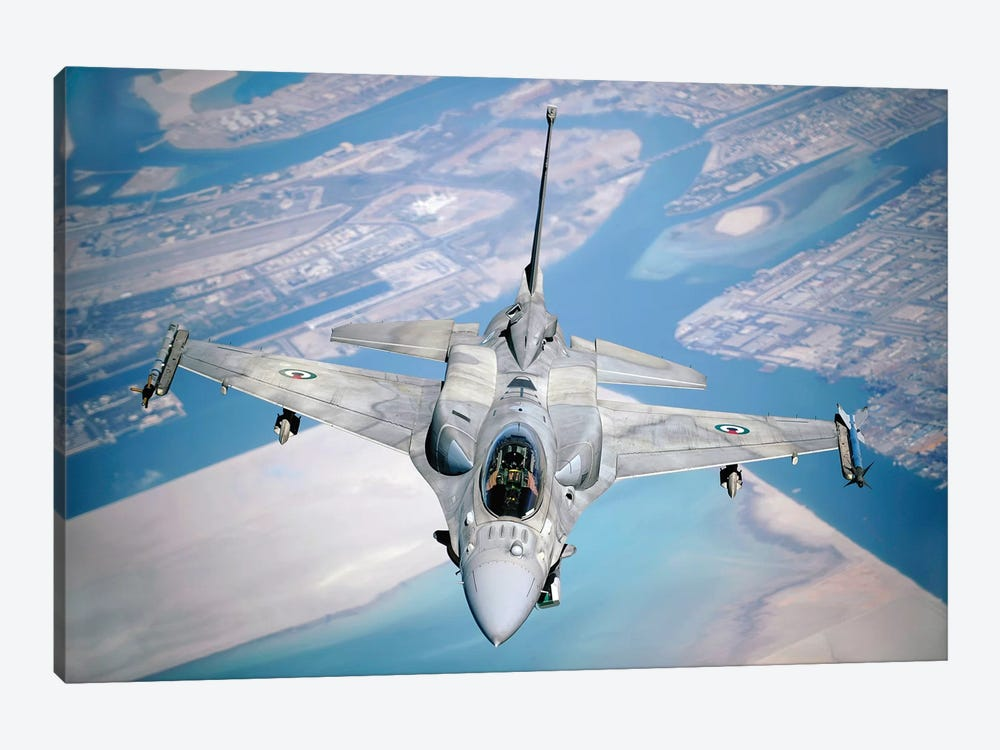 An Emirati F-16 Conducts A Training Mission During A Multinational Exercise by Stocktrek Images 1-piece Art Print