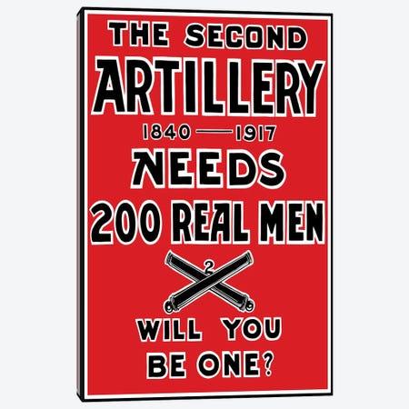 Vintage WWI 2nd Artillery Recruitment Poster Canvas Print #TRK69} by John Parrot Canvas Artwork