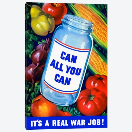 Canning Vintage War Poster Canvas Print #TRK6} by John Parrot Canvas Art Print