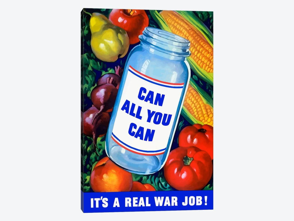 Canning Vintage War Poster by John Parrot 1-piece Canvas Art