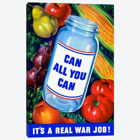 Canning Vintage War Poster Canvas Print #TRK6} by Stocktrek Images Canvas Art Print