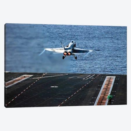 An F/A-18C Hornet Launches From Aircraft Carrier USS John C. Stennis Canvas Print #TRK702} by Stocktrek Images Canvas Art