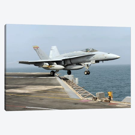 An F/A-18C Hornet Launches From The Aircraft Carrier USS Harry S. Truman Canvas Print #TRK703} by Stocktrek Images Canvas Art