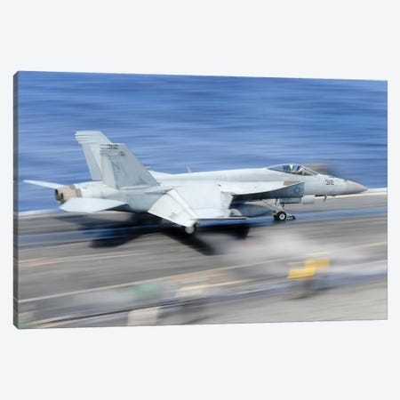 An F/A-18E Super Hornet Launches From The Aircraft Carrier USS George Washington Canvas Print #TRK710} by Stocktrek Images Canvas Print