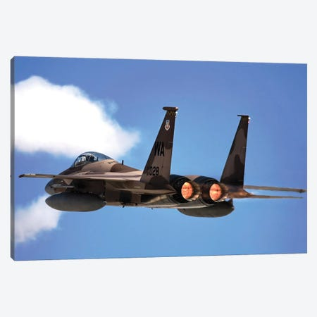 An F-15 Eagle In Flight Canvas Print #TRK723} by Stocktrek Images Canvas Art