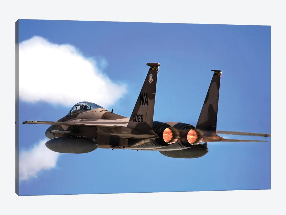 An F-15 Eagle In Flight by Stocktrek Images 1-piece Art Print