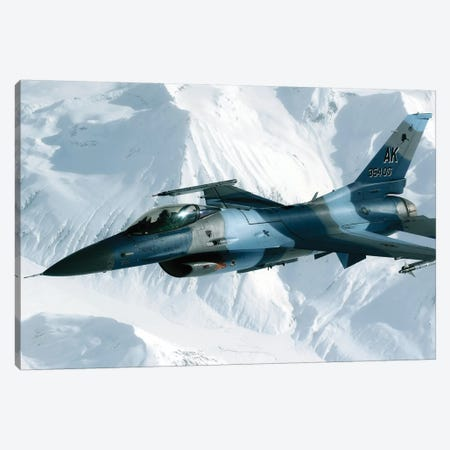An F-16 Aggressor Disconnects From A KC-10 Extender After Refueling Canvas Print #TRK729} by Stocktrek Images Canvas Art