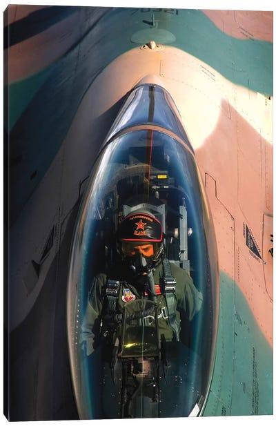 An F-16 Fighting Falcon Canvas Art Print