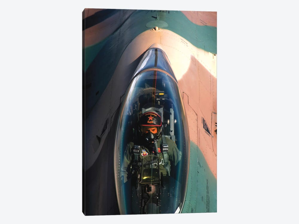 An F-16 Fighting Falcon by Stocktrek Images 1-piece Canvas Art Print