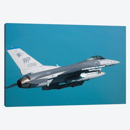 An F-16 Fighting Falcon In Flight Canvas Print #TRK735} by Stocktrek Images Canvas Art