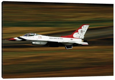 An F-16 Thunderbird Of The US Air Force Flying At High Speed Canvas Art Print