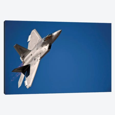 An F-22 Raptor Aircraft Performs During Aviation Nation 2010 Canvas Print #TRK738} by Stocktrek Images Canvas Print