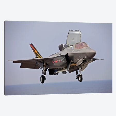 An F-35 Lightning II Prepares For Landing Canvas Print #TRK740} by Stocktrek Images Canvas Art