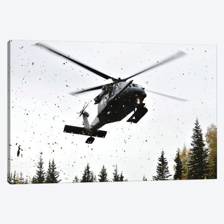 An HH-60G Pave Hawk Helicopter Prepares For Landing Canvas Print #TRK742} by Stocktrek Images Canvas Artwork