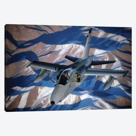 An Italian AMX Disconnects From A KC-10A Extender After Refueling Over Afghanistan Canvas Print #TRK745} by Stocktrek Images Canvas Print