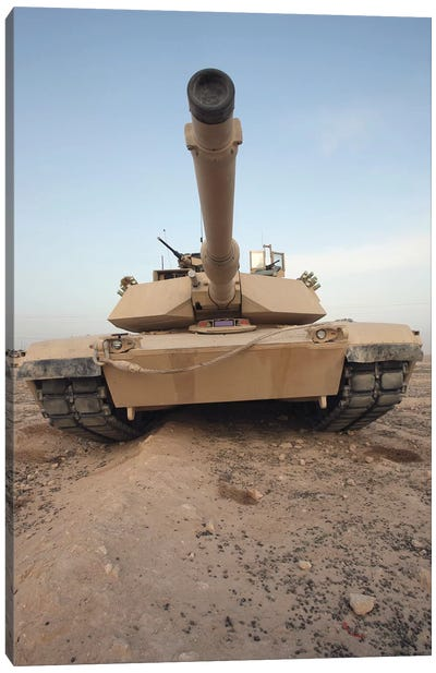 An M-1A1 Main Battle Tank Canvas Art Print
